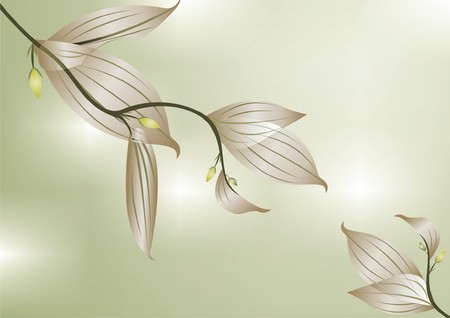 graceful: graceful branches with gentle foliage Illustration