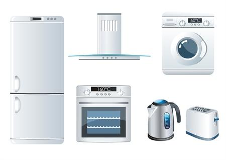 home appliances: Vector conjunto de iconos de los electrodom�sticos Vectores