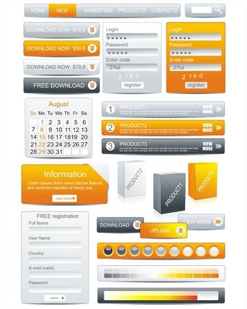 cms: Web Design Element Frame Template