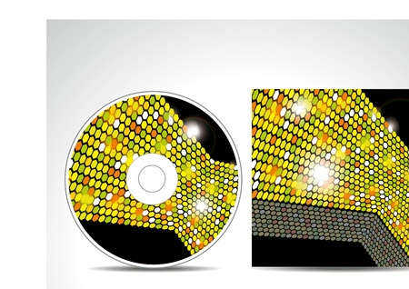 CD Cover Design with 3D Presentation Template Stock Vector - 10130921