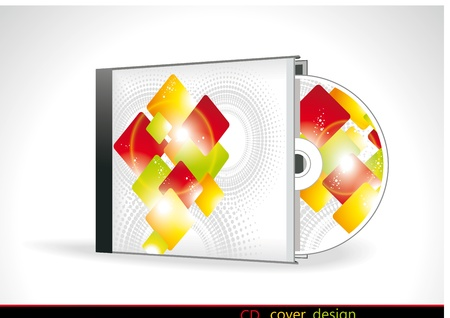 demo: CD Cover Design with 3D Presentation Template