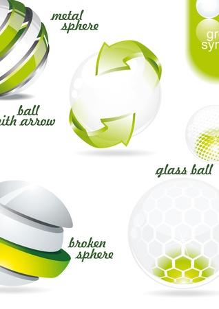 Organic eco glossy balls Stock Vector - 10134117