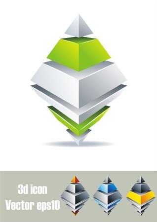 Prism design. 3D symbols. Stock Vector - 10130834