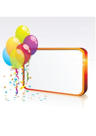 Banner de celebración oro Ilustración de vector