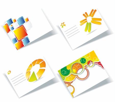 hojas membretadas: conjunto de tarjetas de visita, para más tarjetas de este tipo, visite mi Galería  Vectores