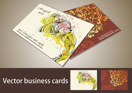business card set, for more business card of this type please visit my gallery  Vector