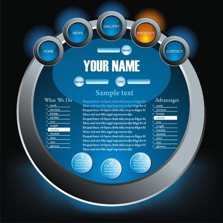 Website Design Template Stock Vector - 10134181
