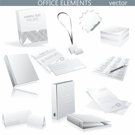 Set of white paper - packaging and stationery elements.  Stock Vector - 10134126
