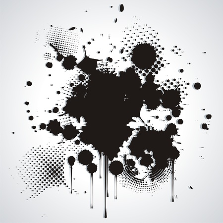 prejudiced:   Black blot isolated on white  Illustration