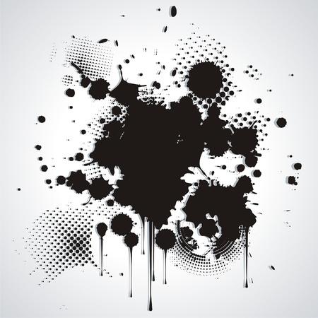 intense: Macchia nero isolato su bianco