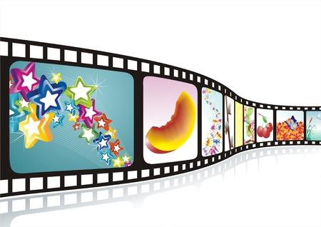 rollo pelicula: Tira de la película con imágenes