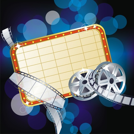 film industry:   Background with Cinema Motives  Illustration