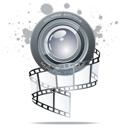 rollo pelicula:   Fondo con motivos de cine  Vectores