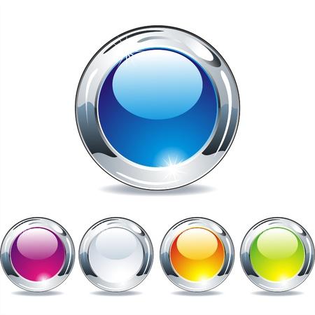 onglet: Vierges noires boutons en plastique