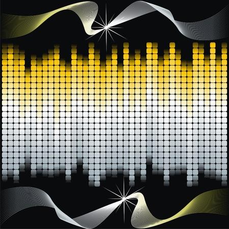 Colorful dance floor Stock Vector - 10261174
