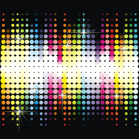advertising column:   Colorful dance floor