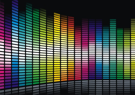 Colorful dance floor Vector