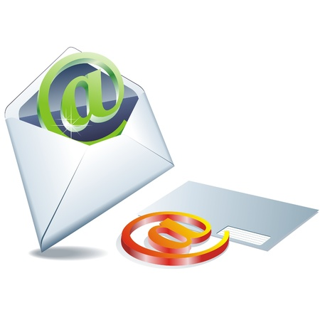 Open envelope with letter icon - EPS 10  Stock Vector - 10261122