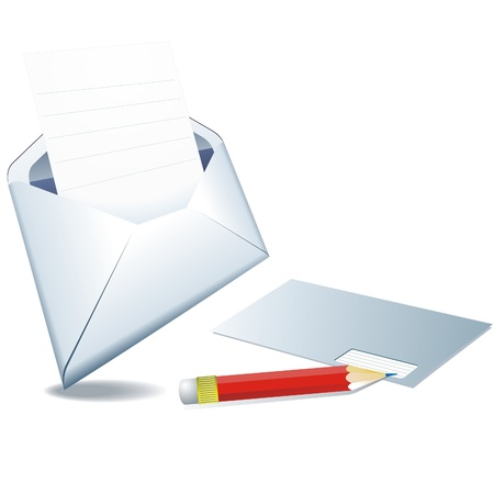 move arrow icon:  Open envelope with letter icon - EPS 10  Illustration