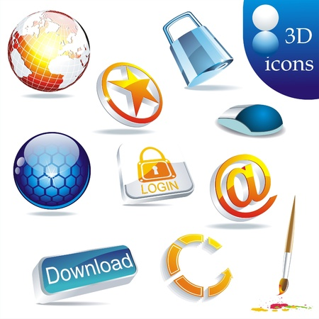 3d cursor:  icon set: web