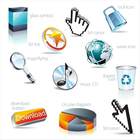 icon set: web Vector