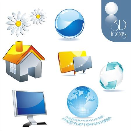 icon set: web Vector