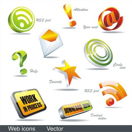 Vector icon set: web