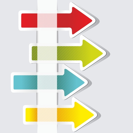 new direction:  Color arrows stickers collection