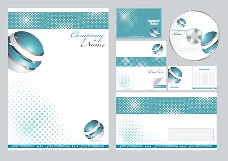 papier en t�te: Editable identit� d'entreprise pour votre mod�le d'affaires
