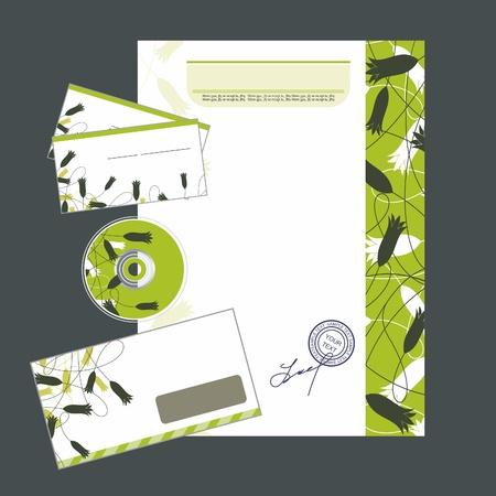 marca libros: Editable identidad corporativa para su estilo de negocios Vectores