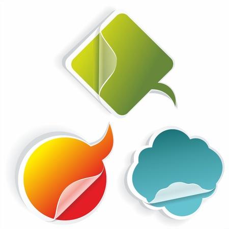web shopping: Multicolored stickers Illustration