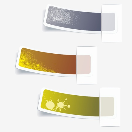 office product: Multicolored stickers Illustration