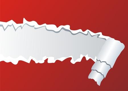 destroyed: Vector Bild der zerrissenen Papier