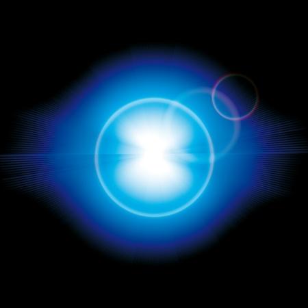 estrella de la vida: Brillantes coloridos fuegos artificiales Vector y saludo