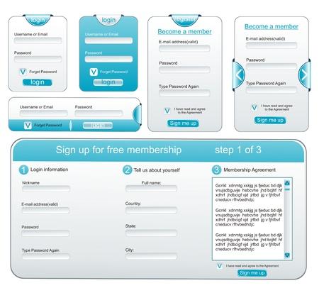 Elementi di web design estremo collezione - modelli web, cornici, bar
