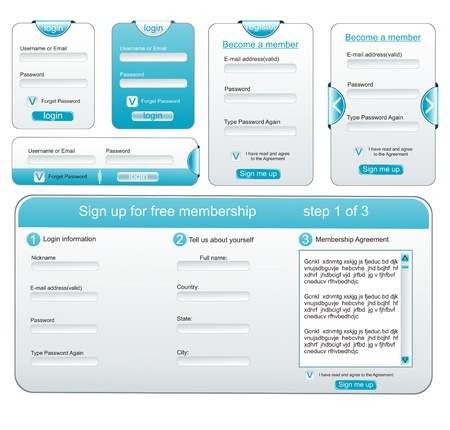 Web design elements extreme collection - web templates,frames, bars