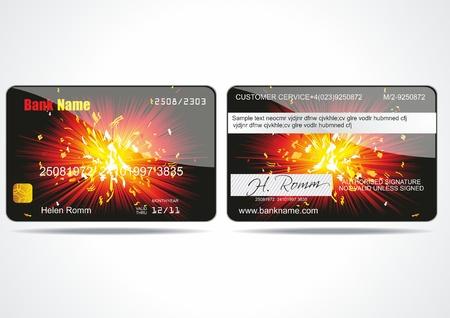 Carte bancaire à la clientèle. Vecteur.