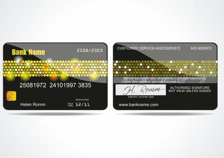 Bank card customer. Vector.  Stock Vector - 10317253