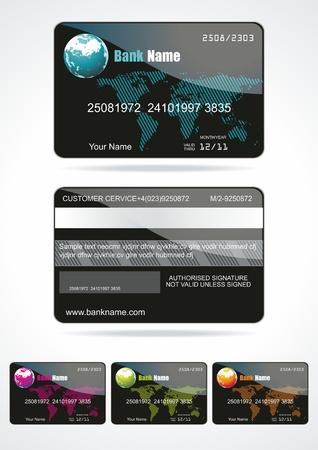 Bank card customer. Vector.  Vector