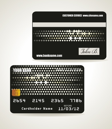 debit: Bank card customer. Vector.