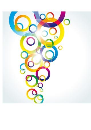 interlace: sfondo astratta vettoriale con cerchi arcobaleno sul bianco