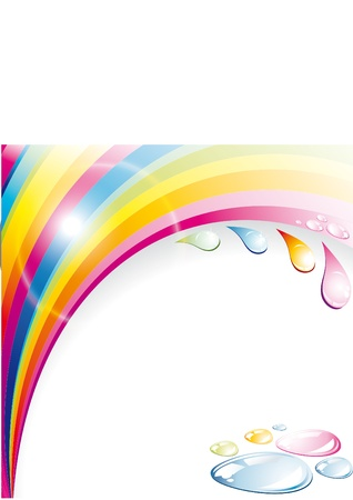 flow of colors: abstract vector background with lines  Illustration