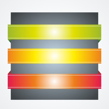 page curl: abstract vector background with color ribbons or banners