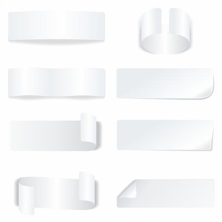 Weißbuch-Aufkleber und Etiketten