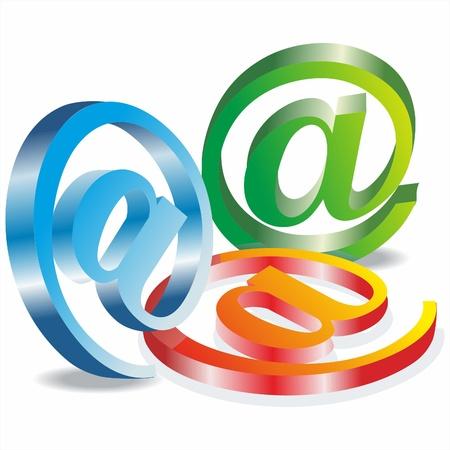 chatbox: Set vector e mail icon
