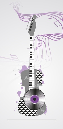 grunge musical background  Vector