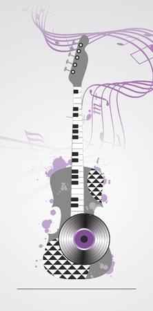 grunge musical background  Vector