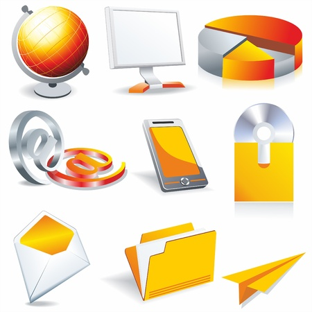 web business & office icons, signs, vector illustrations Vector