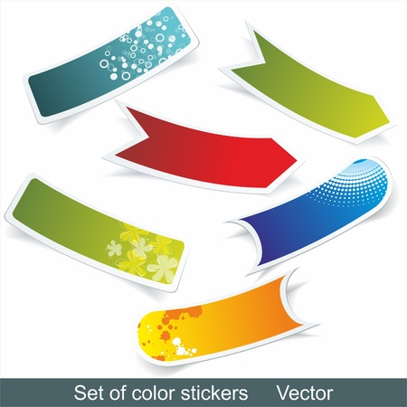 Multi-colored realistic stickers with a place for the text Vector