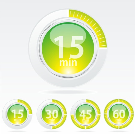Vector timer - easy change time every one minute Stock Vector - 10430859